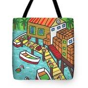 Fish House-cedar Key Tote Bag