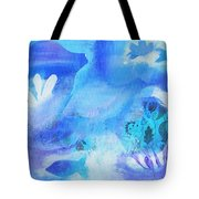 Fish In Blue Tote Bag