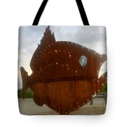 Fish Of Steel Tote Bag