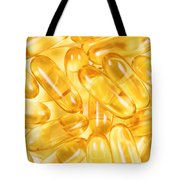 Fish Oil Capsules In Filled Frame Format  Tote Bag