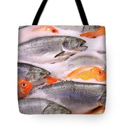 Fish On Ice Tote Bag