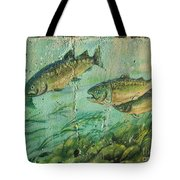 Fish On The Wall 2 Tote Bag