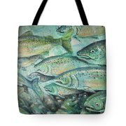 Fish On The Wall Tote Bag