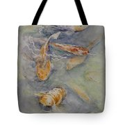 Fish Pond Tote Bag