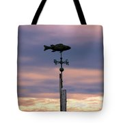 Fish Weather Vane At Sunset Tote Bag