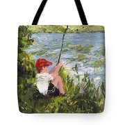 Fisher Boy Tote Bag