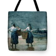 Fisher Girls By The Sea Tote Bag by Winslow Homer