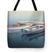 Coastal Wall Art, Fisherman In A Calm, Fishing Boat Paintings Tote Bag