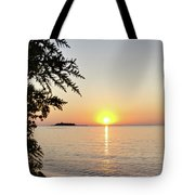 Fisherman's Island Sunset Tote Bag