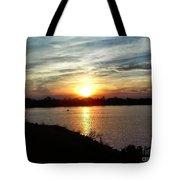 Fisherman's Sunset Horizon Tote Bag