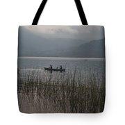 Fishermen On Lake Atitlan Tote Bag