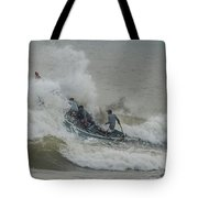 Fishers On Small Boat Tote Bag