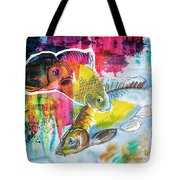 Fishes In Water, Original Painting Tote Bag