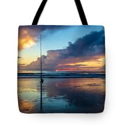 Fishing And Watching The Sunrise Tote Bag