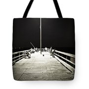 Fishing At Night Tote Bag
