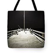 Fishing At Night Tote Bag