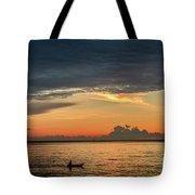 Fishing At Sunrise Tote Bag