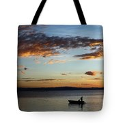 Fishing At Sunset On Lake Titicaca Tote Bag
