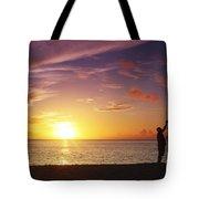 Fishing At Sunset Tote Bag