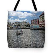 Fishing At The Boardwalk Before The Storm Tote Bag