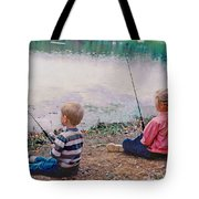 Fishing At Watkins Mill Tote Bag