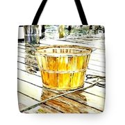 Fishing Basket Tote Bag by Janet Moss
