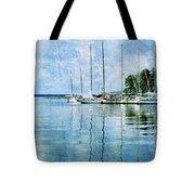 Fishing Bay Reflections Tote Bag