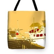 Fishing Boat At The Dock Tote Bag