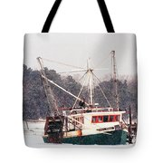 Fishing Boat Emma Rose In Winter Cape Cod Tote Bag