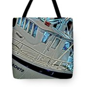 Fishing Boat Hdr Tote Bag