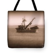Fishing Boat In Monterey Bay Tote Bag