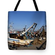 Fishing Boats Tote Bag