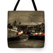Fishing Boats At Lyme Regis Tote Bag