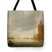 Fishing Boats Off An Estuary Tote Bag