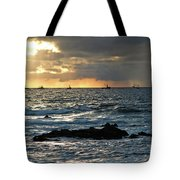 Fishing Boats Off Point Lobos Tote Bag