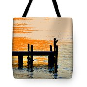 Fishing Boy Tote Bag