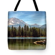 Fishing By Mount Lassen Tote Bag