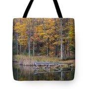 Fishing Dock In The Fall Tote Bag