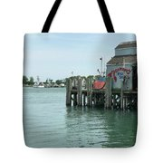 Fishing Dock Tote Bag