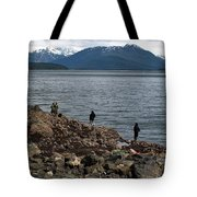 Fishing False Outer Point Tote Bag