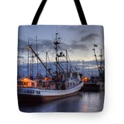 Fishing Fleet Tote Bag by Randy Hall