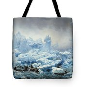 Fishing For Walrus In The Arctic Ocean Tote Bag