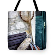 Fishing Gear In Primosten, Croatia Tote Bag