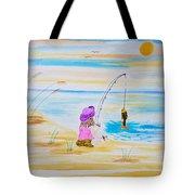 Fishing Girl Tote Bag
