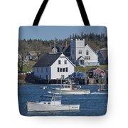 Fishing Harbor Tote Bag