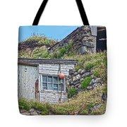 Fishing Huts Cape Cornwall Tote Bag