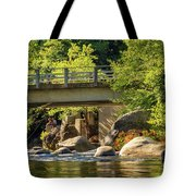 Fishing In Deer Creek Tote Bag by James Eddy