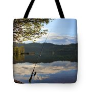 Fishing In Early Morning Tote Bag