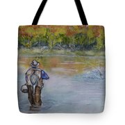 Fishing In Natures Beauty Tote Bag