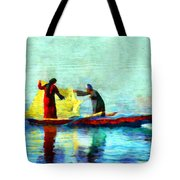 Fishing In The Nile Tote Bag